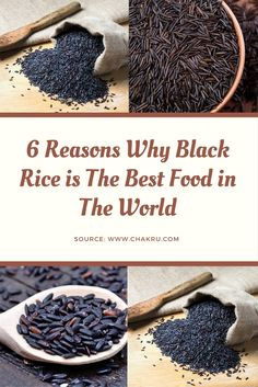 Black rice health benefits for diet. Why it is the best food in the world. Black Rice Health Benefits, Benefits Of Organic Food, Black Wild Rice Recipe, Wild Rice Recipes, Healthy Recipes, Healthy Foods, Black Rice Nutrition, Millet Benefits, Cooking Black Rice