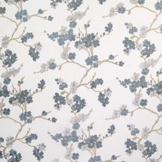B6515 Hydrangea Fabric: D69, D70, BLUE FLOWERS, BLUE FLORAL EMBROIDERY, CORNFLOWER FLORAL EMBROIDERY, OCEAN BLUE FLORAL EMBROIDERY