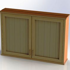 Outdoor TV Cabinet With Double Doors Building Plan   DIY Backyard