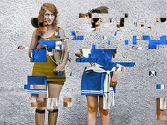 Glitched Vintage Photos Offer An Artistic Perspective On Our Fragmented Memory // David Szauder