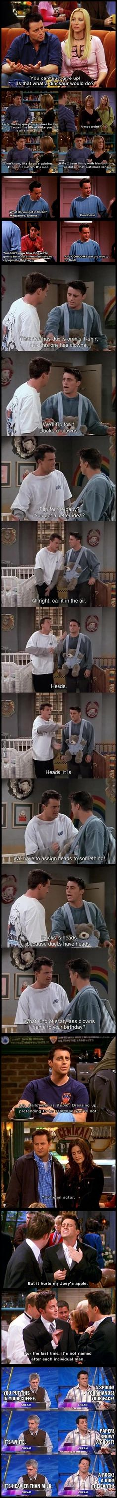 Funny pictures about The Flawless Logic Of Joey Tribbiani. Oh, and cool pics about The Flawless Logic Of Joey Tribbiani. Also, The Flawless Logic Of Joey Tribbiani photos. Serie Friends, Friends Moments, Friends Tv Show, Joey Friends, Friends Scenes, Friends Episodes, Monica Rachel, Bullshit, Jokes