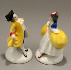 Miniature Courting Couple Figurines Ceramic Vintage Japan by CharmingsVintageCollectibles, $9.00 USD
