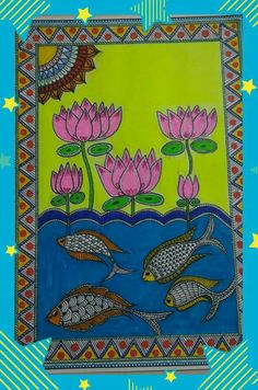 Pichwai Paintings, Indian Art Paintings, Madhubani Art, Madhubani Painting, India Painting, Fabric Painting, Mosaic Portrait, Different Forms Of Art, Indian Folk Art