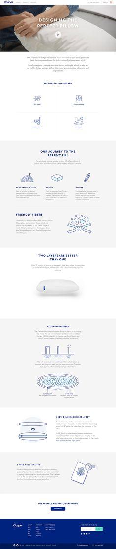 Casper - Designing the Perfect Pillow Website