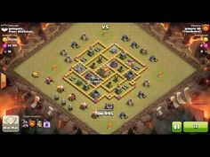 Clash of Clans TH8 vs TH7 Dragon Clan War 3 Star Attack ⋆ Clash of Clans 3 Stars Clan Wars