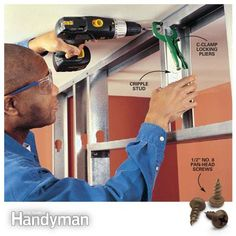Using Steel Studs: Tools and techniques for building basement and partition walls with steel studs. Read more: http://www.familyhandyman.com/carpentry/using-steel-studs/view-all