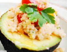 Aguacate con Quinoa
