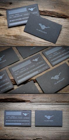 Letterpress Business Cards by Print&Grain (via Creattica)