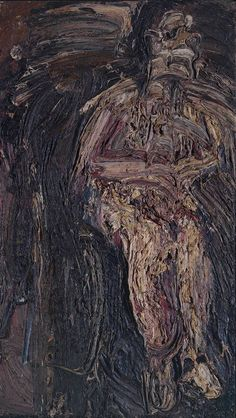 Leon Kossoff, 'Man in a Wheelchair' 1959-62 (link with body horror)