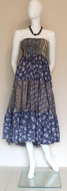 Tube Dress  Vintage silk / Silk Dress / Grey by SilkinaFashions