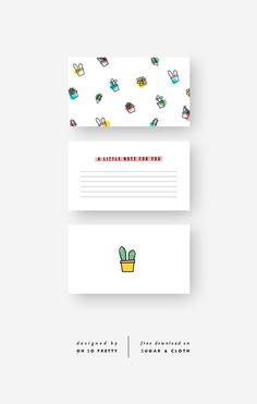 Free Printable Lunch Note Cards