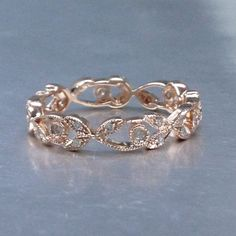 Natural DiamondsFull Eternity Wedding RingSolid 14k by popRing