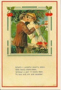 Vintage Cherry Card