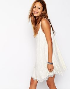 Abercrombie & Fitch Eye Lash Lace Cami Swing Dress