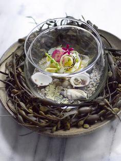 Aquavit, New York Food Decoration, Food Crafts, Molecular Gastronomy, Culinary Arts, Food Presentation, Food Plating, Food Design, Gourmet Recipes, Food Art