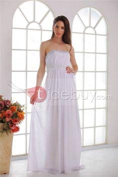 377cd519031 Amazing Angela s Empire Strapless Floor-length Beaded Wedding Dresses  Thin