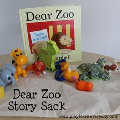 Dear Zoo Story Sack - Play and Learn Every Day Dear Zoo Activities, Language Activities, Infant Activities, Dear Zoo Book, Zoo Preschool, Zoo Art, Core Learning, Before Kindergarten, Story Sack