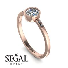 Bezel Minimalist Diamond Ring - Kinsley No. Diamond Wedding Rings, Halo Diamond, Vintage Art Deco Rings, Edwardian Ring, Elegant Engagement Rings, Moon Jewelry, Diamond Sizes, Love Ring, Antique Rings