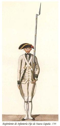 Regimiento de Infanteria Fijo de Nueva España 1788