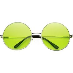 Indie Festival Hippie Oversize Round Colorful Lens Sunglasses 9580 (34 PLN) ❤ liked on Polyvore featuring accessories, eyewear, sunglasses, oversized circle sunglasses, round lens sunglasses, round hippie sunglasses, summer sunglasses and round glasses