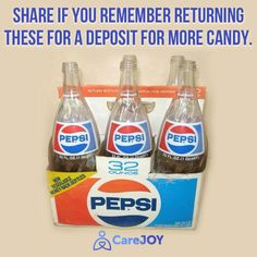 Who remembers returning their bottles for a refund? :)