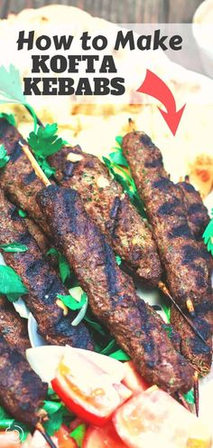 *I'd use all beef.This tutorial is all you need to make the BEST authentic kofta kebabs! You'll love these tasty kabobs with a ground meat mixture of beef and lamb, spices, and fresh herbs. Recipe comes with video and great tips! Beef Kofta Recipe, Beef Kabob Recipes, Lamb Recipes, Greek Recipes, Cooking Recipes, Iraqi Kabob Recipe, Meat Recipes, Mediterranean Dishes, Kitchen