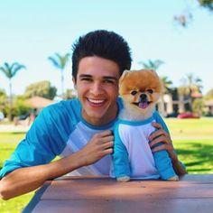 Jiffpom and Brent Rivera Emo Guys, Cute Guys, Most Instagram Followers, Rivera Family, Jiff Pom, Rebecca Zamolo, Baby Animals, Cute Animals, Youtube Boyfriend