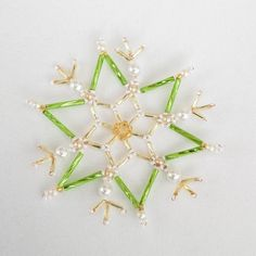 Beaded x-mas star