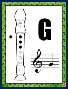 Music Class Decor: Recorder Fingering Posters: Set 2 by MusicTeacherResources Online Music Lessons, Music Lessons For Kids, Music For Kids, Recorder Fingering Chart, Music Bulletin Boards, Piano, Music Worksheets, Recorder Music, Music Activities