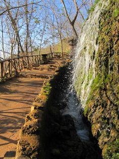 Camino y cascada