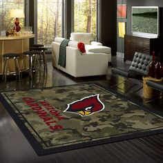 Show your Arizona Cardinals pride and spirit with officially licensed area rugs. Premium Stainmaster® nylon fiber. Fade resistant. Durable.
