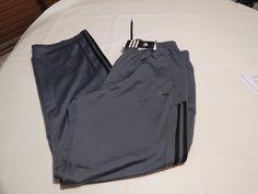 Adidas Champions league UEFA large 360 Mens active pants onyx black grey track  #adidas #activeperformancepants