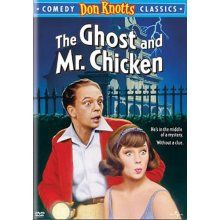 Don Knotts, The Ghost and Mr. Chicken.  Annual Halloween tradition at our house 25+ years now!