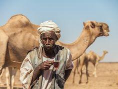 Tea time in the desert. Sudan.