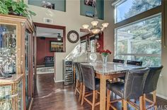 Gorgeous Vaulted Ceiling Dining Room in this Aliso Viejo California Home