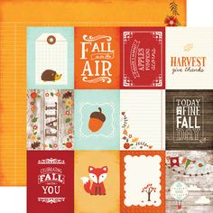 Echo Park - The Story of Our Fall Collection - 12 x 12 Double Sided Paper - 3 x 4 Journaling Cards
