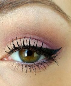 Hazel eye makeup. Love the soft eye shadow with dramatic liner. I must try this!