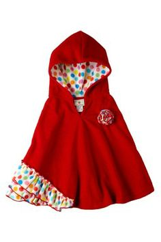 so cute it makes me wanna pop one out right now.jk  .or make one big enough so I could wear it,sounds more reasonable.lol  Million Polkadots Hooded Poncho (Toddler, Little Girls, & Big Girls)