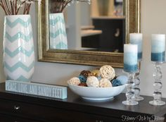 console table decor  from: Honey We're Home