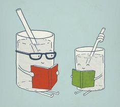 Uno dei pericoli maggiori dell'estate: appoggiare bicchieri contenenti bibite ghiacciate sulla copertina dei libri.