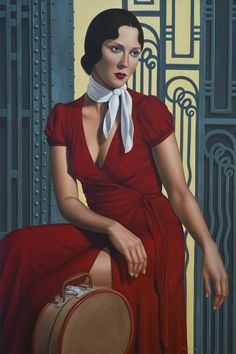 Gare de l'Est by Catherine Abel (contemporary), American - She makes paintings combining the stylised geometry of the Art Deco period with the clarity of the Italian Renaissance Masters (fineartamerica.com/) - (womeninarthistory)
