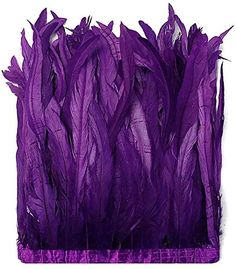 """1 Yard 10-12/"""" Red Dyed Over Natural Coque Tails Long Feather Trim Costume"""