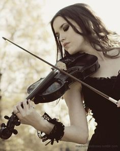 letting my joys and sorrows run through the bow stroke as I play the violin. Being able to play for my mum's birthday or Christmas.