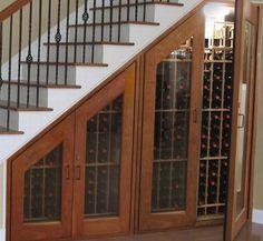 under stair drawers | Vinotemp Under Stairs Wine CabinetVinotemp 500 Bottle Under Stairs ...