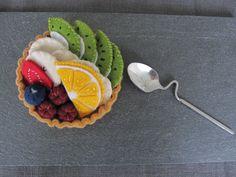 Tartelette aux fruits en feutrine