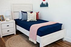 Nautical Navy has remained a top seller!  We know why, this classic deep blue color coordinates so well with just about any decor. This solid color can go both feminine or masculine depending on how you accessorize it. This design is ALL COTTON.  There is no Minky fabric on this bedding. Boys Nautical Bedroom, Girls Bedroom, Bedroom Decor, Bedroom Ideas, Beddys Bedding, Zipper Bedding, Small Rooms, Kids Rooms, Shared Bedrooms