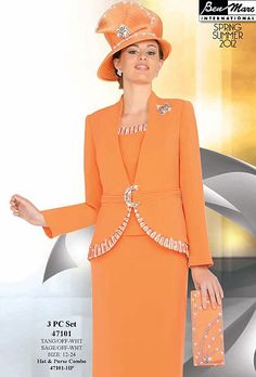 Ben Marc Hats | Ben Marc International Womens 3pc Church Suit 47101 image