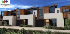 Top Constructors & Builders in Cranbourne Area - United Homes Australia Townhouse Exterior, Modern Townhouse, Townhouse Designs, Narrow House Plans, Duplex Design, Facade House, House Facades, House Viewing, Duplex House