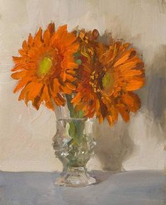 daily painting titled Louis' flowers - click for enlargement