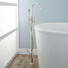 Benkei Freestanding Tub Faucet and Hand Shower - Tub Faucets - Bathroom